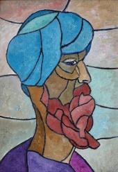 Мозаичный портрет старика
