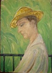 Мужчина в соломенной шляпе